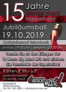 Tanzstudio dance maxX Nürnberg Jubiläumsball 2019