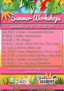 Tanzstudio dance maxX Nürnberg Summer Workshop 2019