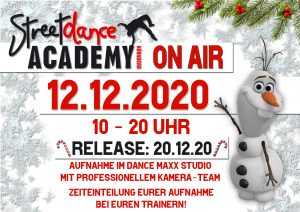 Streetdance Academy Nürnberg - Flyer 12.12.2020
