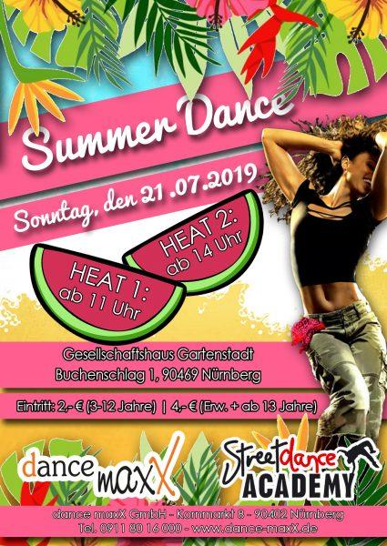 Tanzstudio dance maxX Nürnberg Summer Dance 2019